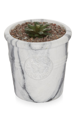 Kimball-7199901-small plant marble pot, grade miss