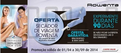 Oferta Secador de Viagem   RADIO POPULAR   Rowenta