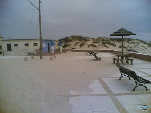 Temporal na praia do Cabedelo - Esplanada c/ areia