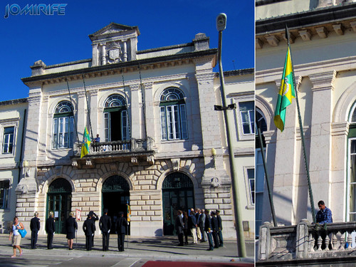 Hastear bandeira na Câmara Municipal da Figueira da Foz [en] Flag Raising at City Hall Figueira da Foz