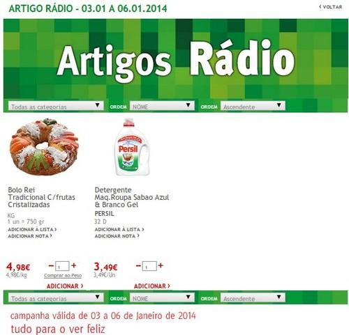 Artigos rádio | JUMBO | de 3 a 6 janeiro