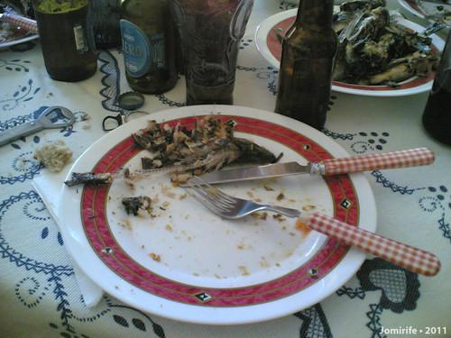 Sardinhada - Terminado de comer