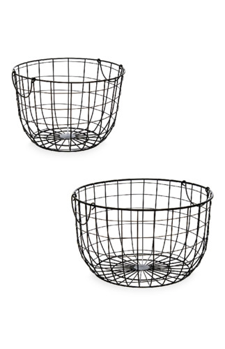 Kimball-7545501-2Pk Lrg Round Wire Basket, ROI J,
