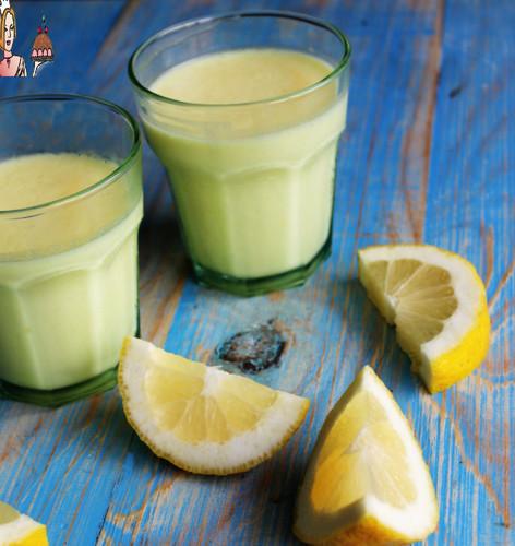 Mousse de gelatina de limão