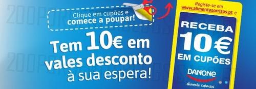 Vales de desconto | DANONE | Imprima 10€ em vales de desconto
