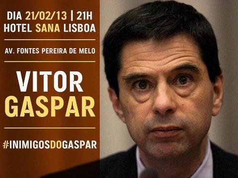 Vitor Gaspar poderá ser a próxima vítima musical de intervenção...