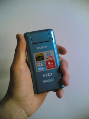 Sony Bloggie MHS-PM5: Na minha mão
