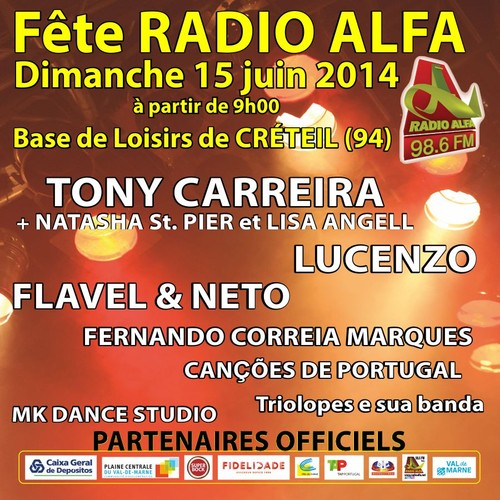 Cartaz Festa Rádio Alfa em Paris