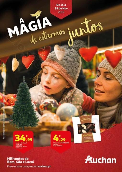 Antevisão Folheto AUCHAN Natal Promoções de 15
