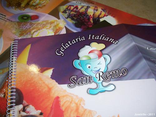 Gelataria Italiana San Remo - Lista