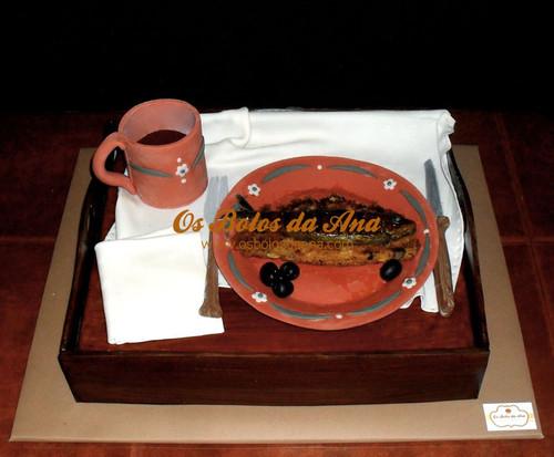 Os Bolos da Ana - Sardinha na broa com azeitonas