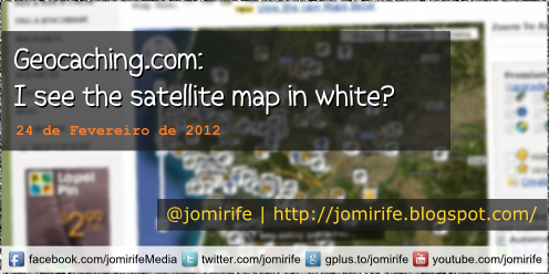 Blog: Geocaching satellite map is blank