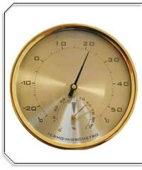 O higrómetro mede a humidade relativa no ar...