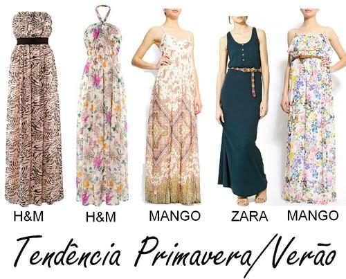 28eb4846ed Podes encontrar vestidos compridos em quase todas as lojas a que vais  habitualmente. De todas as cores