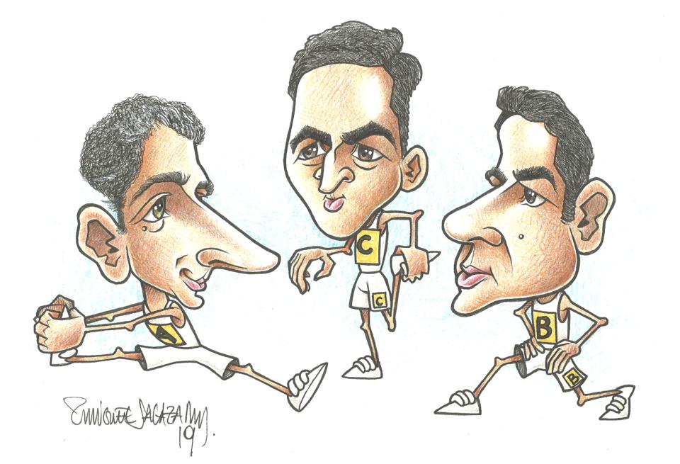 da esquerda para a adireita: António Miguel Cardoso, Daniel Rodrigues e Miguel Pinto Lisboa