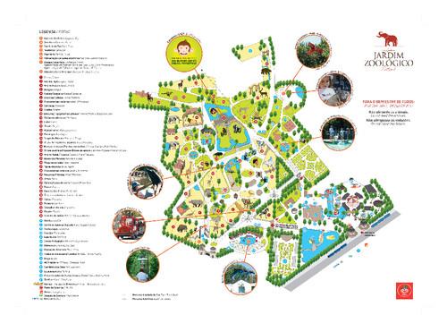 festa jardim zoologico:mapa do Jardim Zoológico de Lisboa, que nos facilitou a visita de