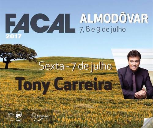 FACAL 2017 em Almodôvar com Tony Carreira a 7 de Julho