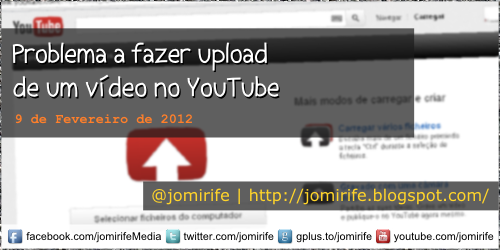 Blog: Problema a fazer upload no YouTube
