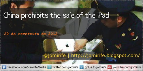 Blog: China prohibits the sale of the iPad