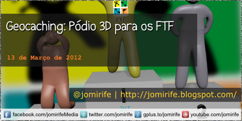 Blog: Geocaching - Pódio 3D para os FTF
