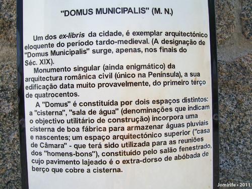 Castelo de Bragança: Domus Municipalis - Texto