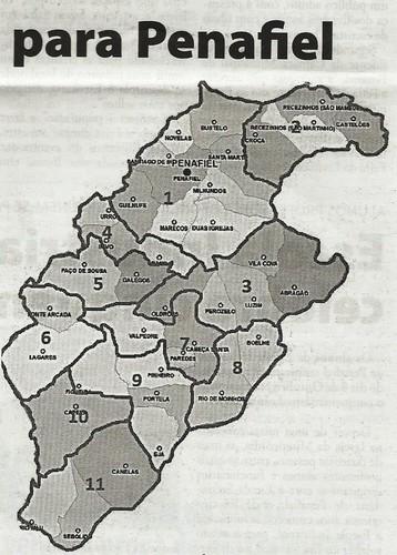 Mapa exemplificativo publicado pelo jornal