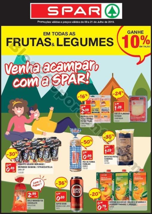 Antevisão Folheto SPAR Promoções de 9 a 21 julh