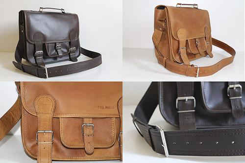 bolsas de ombro de couro vintage