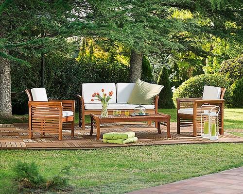 mesa jardim carrefour:Para uma pequena varanda (ou jardim) este conjunto feito de madeira de