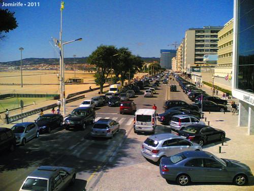 Muito trânsito na Figueira da Foz (7 Agosto 2011)
