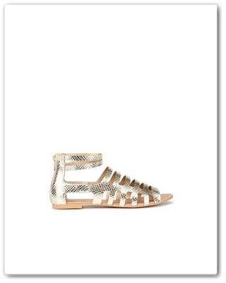 Sandálias Zara Douradas