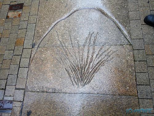 Viseu (12) Rua Direita - Desenho no chão [en] Viseu - Right Street - drawing on the floor