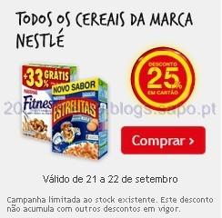 25% em Cereais Nestlé no Continente
