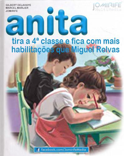 Anita tira 4 classe e habilitacoes Miguel Relvas
