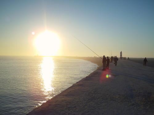 Pescadores no molhe, Figueira da Foz
