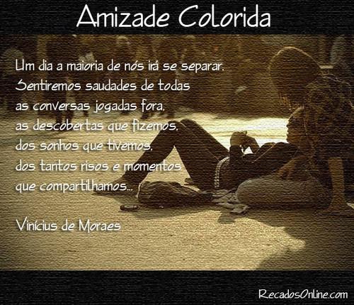 Vinicius De Morais No Facebook Amizade Colorida Pontos De Vista