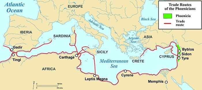 Rotas_Fenicias_Map of Phoenicia and its trade rout