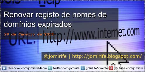 Blog Post: Renovar registo de nomes de domínios
