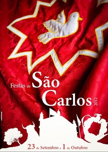 O cartaz das Festas de São Carlos 2012...