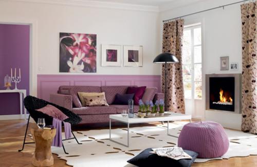Sala De Estar Roxa ~ cor púrpura é uma forma de design de interiores verdadeiramente
