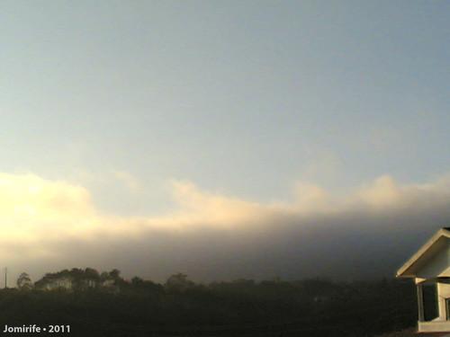 Nevoeiro sobre a Serra da Boa Viagem