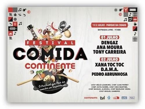 Festival Comida Continente no Porto nos dias 1 e 2 de Julho