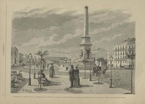 Monumento aos Restauradores (Desenho do natural de J. Christino)