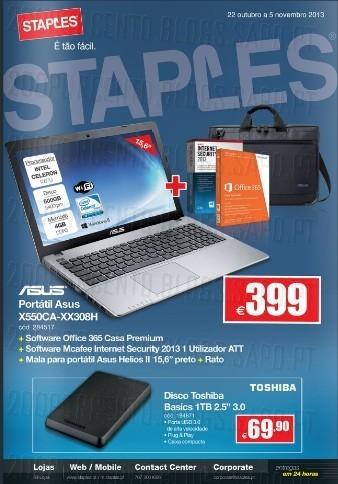 Folheto | STAPLES | de 22 Outubro a 3 Novembro,