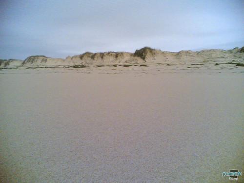 Temporal na praia do Cabedelo - Erosão das dunas