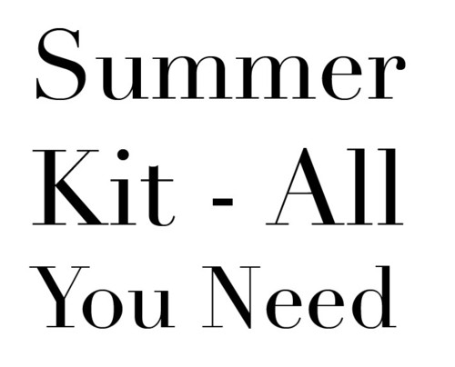 all you need summer kit, ina the blog