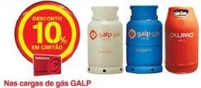 Acumulação 10% + vale de desconto | CONTINENTE |, até 26 janeiro, cargas de gás Galp
