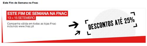25% Desconto FNAC