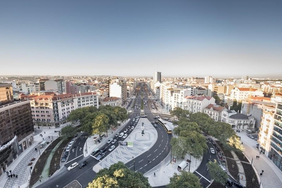 Vista do alto do novo Eixo Central de Lisboa. Imag