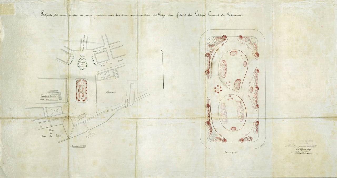 Projeto de construção de um jardim nos terrenos
